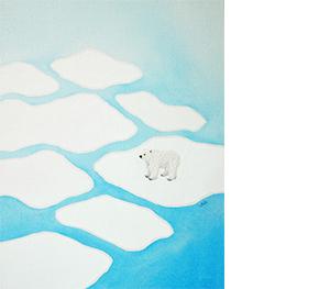 11 백은하, 마지막 북극곰, 2018, 천과 실, 41×32cm