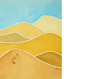12 백은하, 마지막 사막여우, 2018, 천과 실, 41×32cm