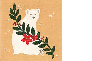 13 백은하, 북극곰, 2015, 천과 실, 20x20cm