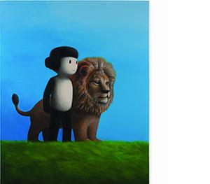 14 박상혁, 네모나네와 사자, 2016, 캔버스에 유채, 162x131cm